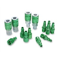 Legacy A71458B Color Connex Type B - ARO 14 Piece 1/4 in. Green Coupler and Plug Kit by Legacy