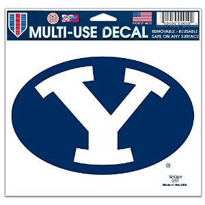 "BYU Cougars公式NCAA 4.5 "" x6 "" Car Window Clingデカール"