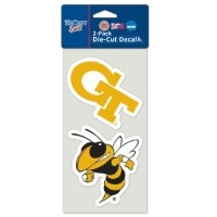 "NCAA Georgia Tech Perfect Cut Decal ( Set of 2 )、4 "" x 4 """
