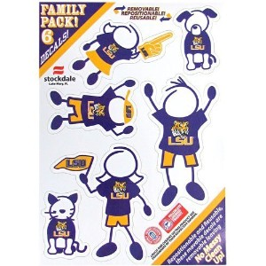 "LSUタイガースNCAA Family Decals Auto Car 5 "" x 7 "" Small 6 Piece Set"