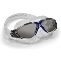 Aqua Sphere Vista Goggle - Smoke Lens - Light Blue Great for Swimming