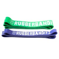 Rubberbanditz Pull Up Assistance / CrossFit Band Set - Robust, Power Bands -