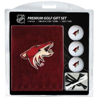 Team Golf 15120 Phoenix Coyotes Embroidered Towel Golf Ball 12 Golf Tee Gift Set