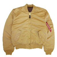 【U.S.A企画 正規品】 ALPHA INDUSTRIES【アルファ インダストリーズ】MA-1 フライトジャケット【SLIM FIT/EUROPEAN FIT】【CAMEL/DEEP BROWN...