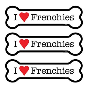 "( sjt25387 ) Frenchies ( French Bulldogs ) 3 - Pack 2 "" x 7 ""骨形車の磁石"