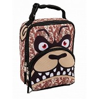 Mad LabsブラウンCamo Angry Puppy Dog Soft Lunch Box Insulated LunchバッグLunchbox