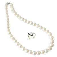 One&Only Jewellery 大粒 9-10mm 本真珠 パール ネックレス フォーマル 2点セット (イヤリング)