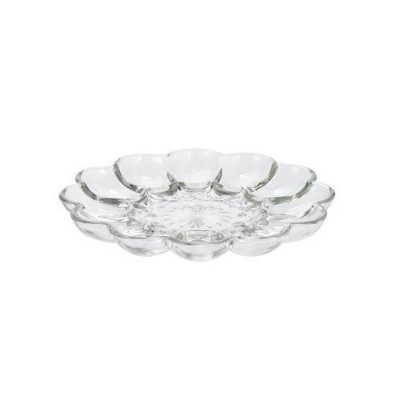 Anchor Hocking Glass Deviled Egg Plate by Anchor Hocking