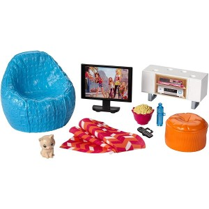 バービー ムービーナイトセット (Barbie Movie Night & Accessories Playset/DVX46/MATTEL社)