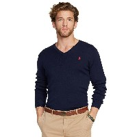 RALPH LAUREN ラルフローレン Vネック セーター ネイビー 紺 PIMA COTTON V-NECK SWEATER HUNTER NAVY