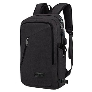 mancroスリムラップトップバックパック、ビジネスコンピュータバックパックwithヘッドフォンポート、Anti Theft Travel Bag with USB充電穴for College...