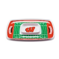 NCAA Wisconsin BadgersメラミンChip and Dip Tray