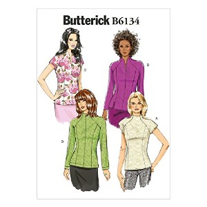Butterick Patterns B6134 Misses' Top Sewing Template, Size E5 (14-16-18-20-22) by BUTTERICK PATTERNS