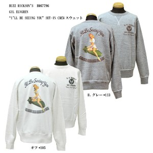 """BUZZ RICKSON'S バズリクソンズGIL ELVGREN """"I'LL BE SEEING YOU"""" SET-IN CREWスウェット2017年秋冬モデルBR67796-17AWジル..."""