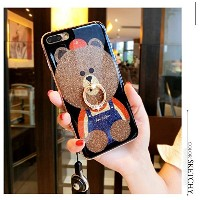 ベアリングリング漫画のiPhoneの電話シェル Bear ring cartoon iphone case shell for iPhone6/7/8&plus (iphone6/6s, blue)