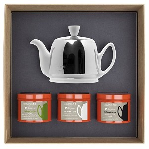 Guy Degrenne–Salam 2Cup Teapot with 3tea tastingボックス