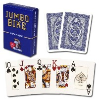 Modiano Bike Trophy 100 %プラスチックJumbo Index Playing Cards