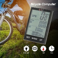 Bike Computer Wireless Bicycle Speedometer Odometer Temperature Backlight Water Resistant for Cyclin