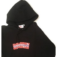 ≪新品≫ 17SS SUPREME / Comme Des Garcon ( CDG ) Box Logo Hooded Sweatshirt BLACK Mサイズ パーカー フーディ 黒...