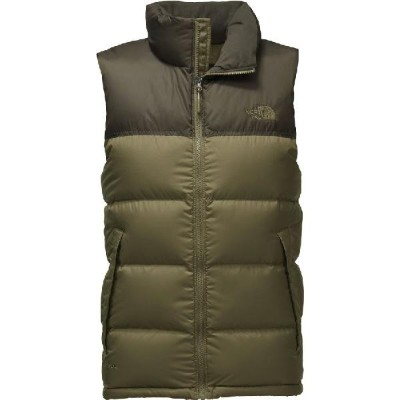 (取寄)ノースフェイス メンズ ヌプシ ダウン ベスト The North Face Men's Nuptse Down Vest Burnt Olive Green/New Taupe Green