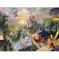 Disney(ディズニー)Beauty and the Beast ''Falling in Love'' Puzzle by Thomas Kinkade 美女と野獣パズル750ピース ...