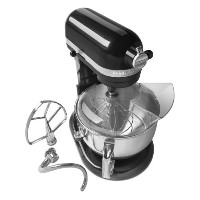 KitchenAid KP26M1XCV Professional 600 Series 6-Quart Stand Mixer, Caviar Gloss by KitchenAid