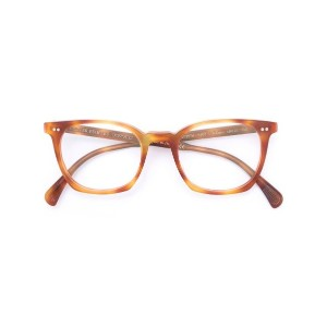 Oliver Peoples - L.A. Coen べっ甲柄 眼鏡フレーム - men - アセテート - 49