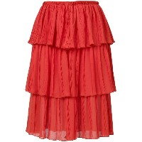 See By Chloé - tiered skirt - women - ポリエステル - 40