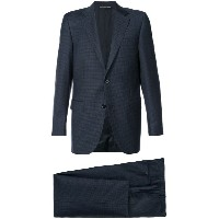 Canali - checked suit - men - キュプロ/ウール - 56