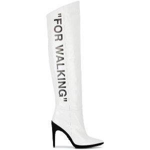 Off-White - For Walking サイハイブーツ - women - レザー/rubber - 37