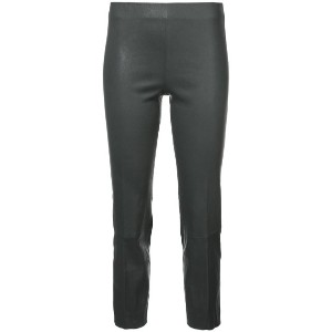 Vince - cropped trousers - women - レザー - XS