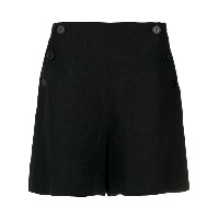 Andrea Marques - button detail shorts - women - リネン - 36