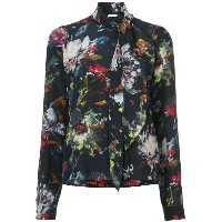 Tomas Maier - scarf neck floral blouse - women - シルク - 4