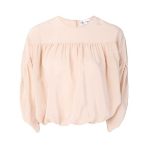 Red Valentino - ギャザーディテール ブラウス - women - シルク - 40