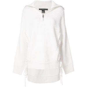 Barbara Bui - zipped neck jumper - women - ウール - ワンサイズ