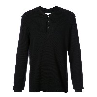 Ovadia & Sons - buttoned waffle sweater - men - メリノウール - L