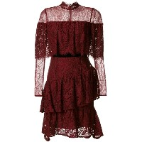 Perseverance London - tiered ruffled lace dress - women - ナイロン/ポリエステル/レーヨン - 12
