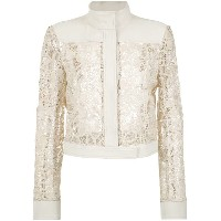 Martha Medeiros - lace bomber jacket - women - シルク/アセテート/ビスコース - 40
