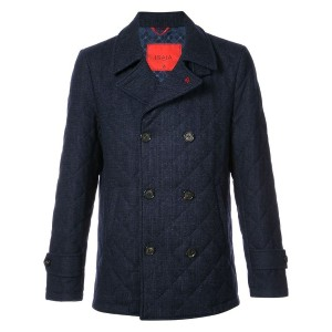 Isaia - double breasted jacket - men - シルク/ウール - 50