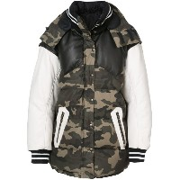 Faith Connexion - camouflage print jacket - men - コットン/レザー - S