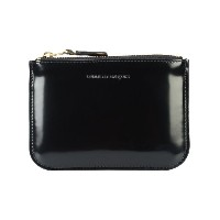 Comme Des Garçons Wallet - Glossy Black コインケース - unisex - レザー - ワンサイズ