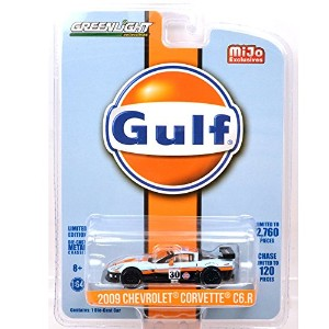 "GREENLIGHT 1:64SCALE MIJO EXCLUSIVES - ""2009 CHEVROLET CORVETTE C6R""(GULF RACING) グリーンライト 1:64スケール..."