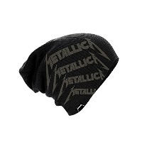 Metallica Beanie Cap Distressed Classic Spiked Logo 公式 新しい ブラック slouch