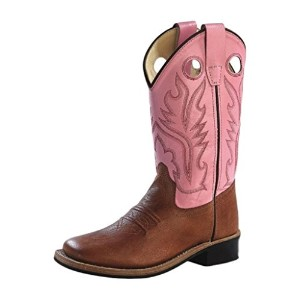 Old West Girls ' Cowgirl Boot Square Toe – BSC 1839 G US サイズ: 9.5 Child カラー: ブラウン