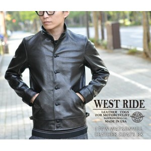 【WEST RIDE/ウエストライド】レザージャケット/ 17FW WATSONVILL LEATHER COATS BK★REAL DEAL