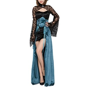 Zhhlinyuan 女性のノベルティ Womens Halloween Cosplay Costumes Japanese Style Witch Game Nightclub Party...