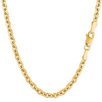 """14k Yellow Gold Cable Link Chain Necklace, 4.0mm, 18"""""""