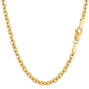 14k Yellow Gold Cable Link Chain Necklace, 4.0mm, 22""