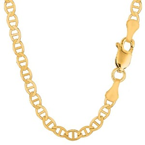 14k Yellow Gold Mariner Link Chain Necklace - 6.0 mm, 24""
