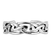 Sterling Silver Trinity Knot Cuff Style Adjustable Toe Ring